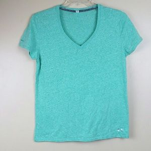 Under Armour Women's Green V Neck Fitted T Shirt